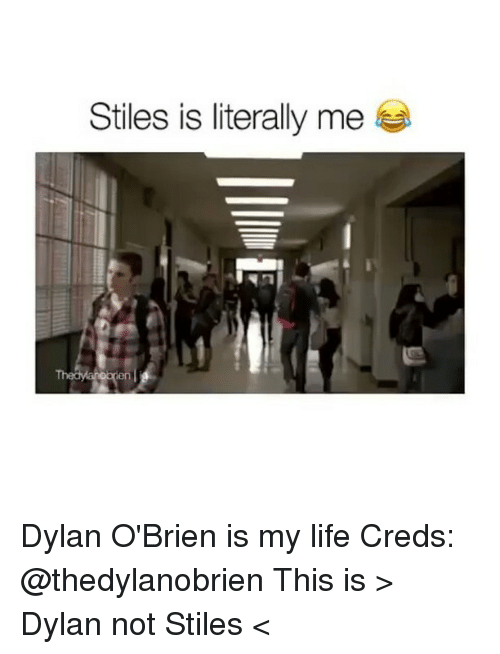 Dylan O'Brien: Stiles is literally me Dylan O'Brien is my life Creds: @thedylanobrien This is > Dylan not Stiles <