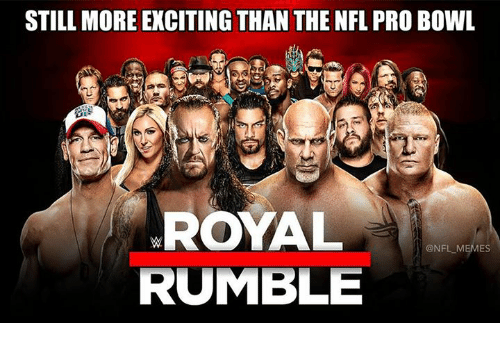 NFL Pro Bowl: STILL MORE EXCITING THAN THE NFL PRO BOWL  ROYAL  @NFL ES  RUMBLE