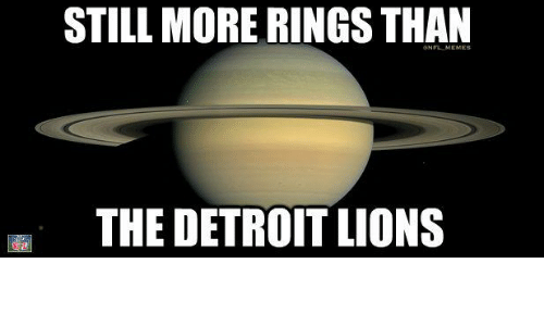 Detroit Lions: STILL MORE RINGSTHAN  THE DETROIT LIONS
