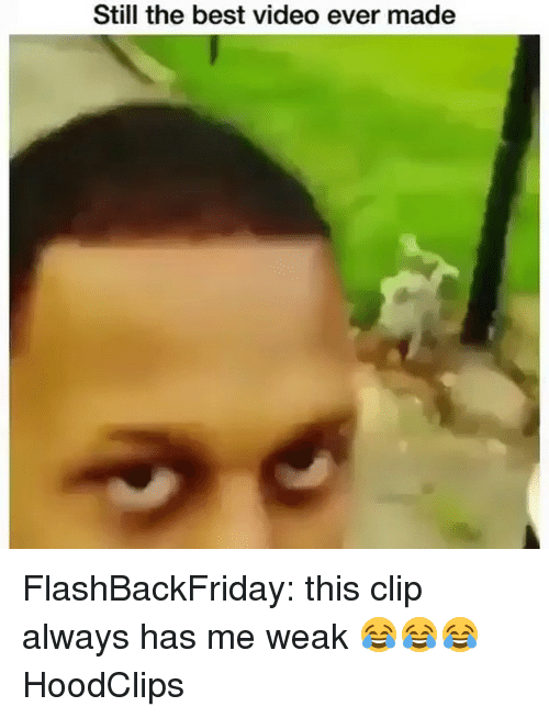 Funny, Best, and Video: Still the best video ever made FlashBackFriday: this clip always has me weak 😂😂😂 HoodClips