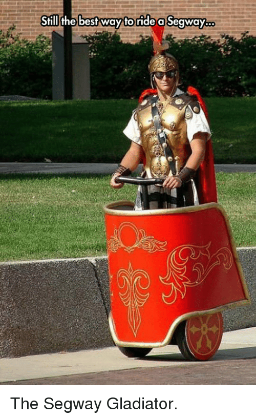Segway: Still the bestway toride a Seaway.. <p>The Segway Gladiator.</p>