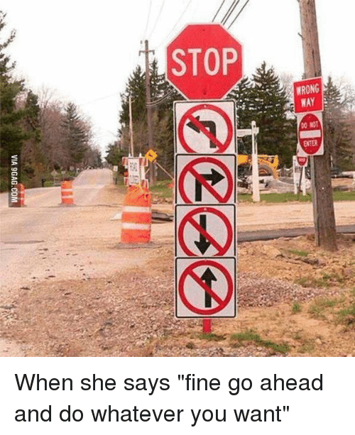 stop do not enter when she says fine go ahead 2102133 stop do not enter when she says fine go ahead and do whatever you