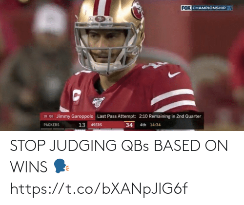 wins: STOP JUDGING QBs BASED ON WINS 🗣 https://t.co/bXANpJIG6f