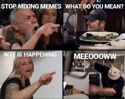 Mixing: STOP MIXING MEMES WHAT DO YOU MEAN?  WTF IS HAPPENING  MEEO0OWW