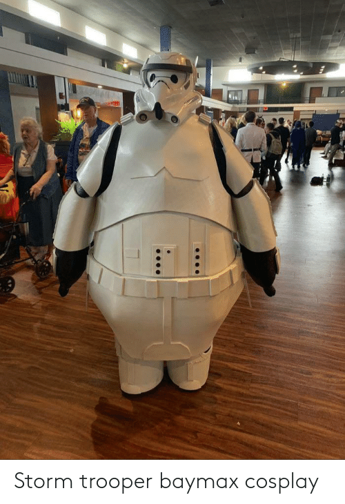 Cosplay: Storm trooper baymax cosplay