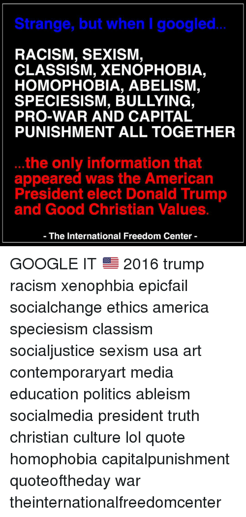 xenophobia of the american culture