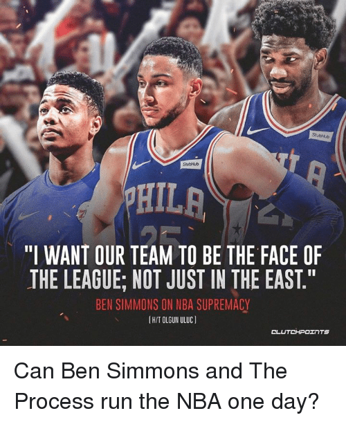 """Nba, Run, and The League: StubHub  StubHub  """"I WANT OUR TEAM TO BE THE FACE OF  THE LEAGUE; NOT JUST IN THE EAST.""""  BEN SIMMONS ON NBA SUPREMACY  IH/T OLGUN ULUC)  CLUTCHPOTNTS Can Ben Simmons and The Process run the NBA one day?"""
