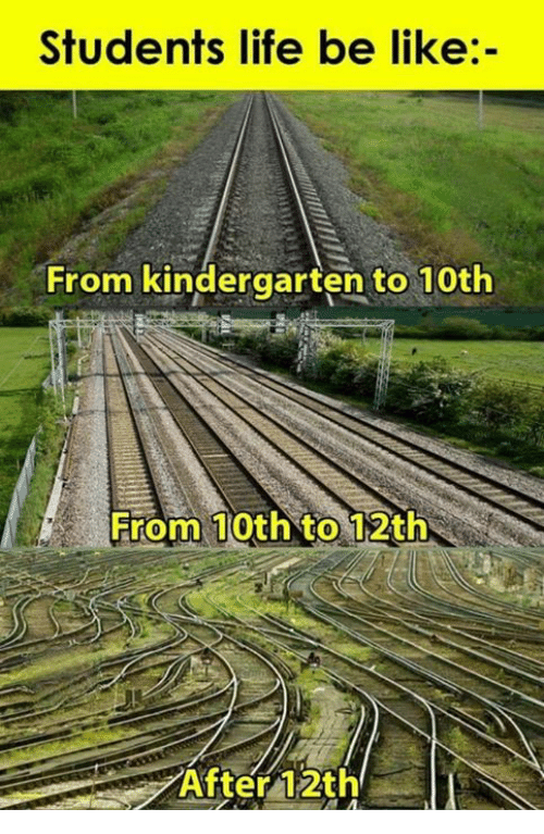 Be Like, Life, and Memes: Students life be like:-  From kindergarten to 10th  From 10th to 12th  After 12th