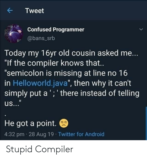 compiler: Stupid Compiler