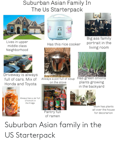 Asian: Suburban Asian family in the US Starterpack