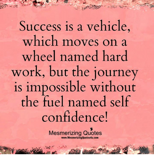 Quotes On Journey Of Success: Success Is A Vehicle Which Moves Ona Wheel Named Hard Work