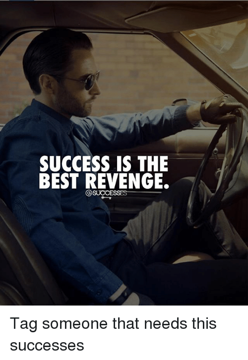 Memes, Revenge, and Best: SUCCESS IS THE  BEST REVENGE. Tag someone that needs this successes