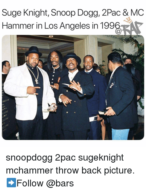 MC Hammer: Suge Knight, Snoop Dogg, 2Pac & MC  Hammer in Los Angeles in 199%, snoopdogg 2pac sugeknight mchammer throw back picture. ➡️Follow @bars