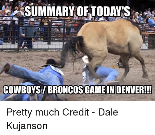 Dallas Cowboys, Nfl, and Broncos: SUMMARYOFTODA'S  COWBOYS/BRONCOS GAMEIN DENVER!!! Pretty much  Credit - Dale Kujanson
