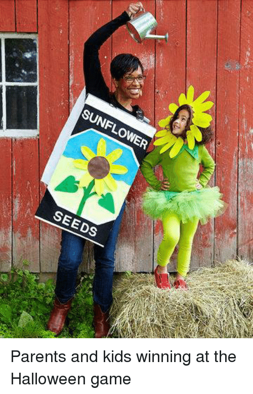 Sunflowering: SUNFLOWER  SEEDS Parents and kids winning at the Halloween game