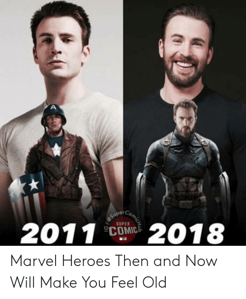 then and now: SUPER  COMIC Marvel Heroes Then and Now Will Make You Feel Old