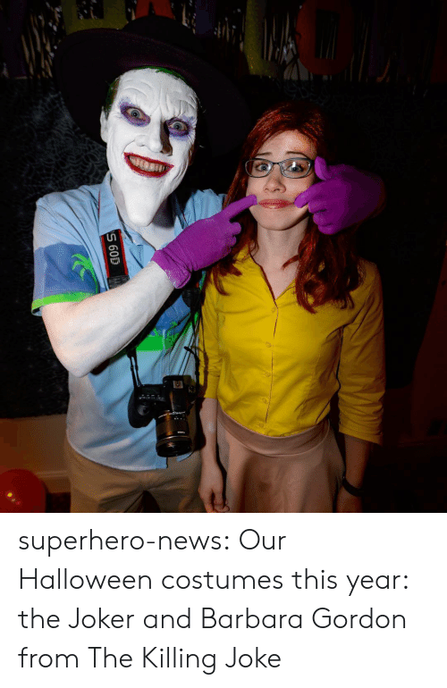 killing joke: superhero-news:  Our Halloween costumes this year: the Joker and Barbara Gordon from The Killing Joke