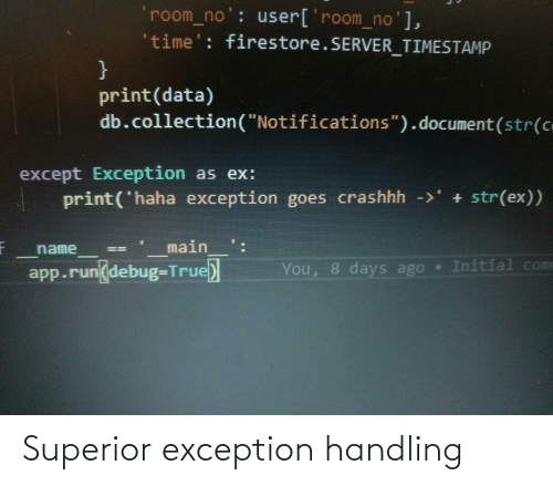 Superior: Superior exception handling
