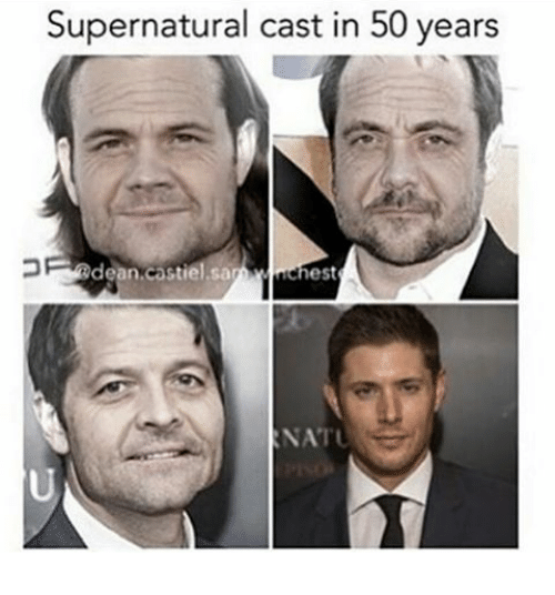 Supernatural Cast In 50 Years Dean Astiel Sa Ehest Not