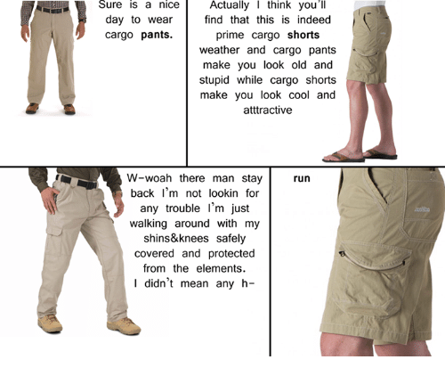 sure is a nice actually i think youll day to 3387942 sure is a nice actually i think you'll day to wear find that this,Cargo Shorts Meme