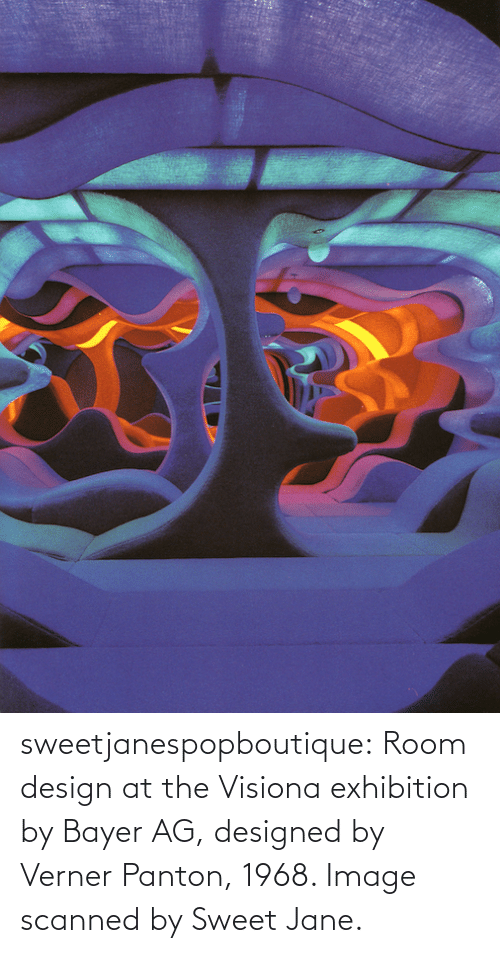 Jane: sweetjanespopboutique: Room design at the Visiona exhibition by Bayer AG, designed by Verner Panton, 1968. Image scanned by Sweet Jane.