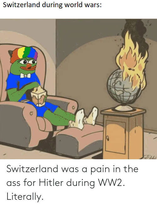 The Ass: Switzerland was a pain in the ass for Hitler during WW2. Literally.