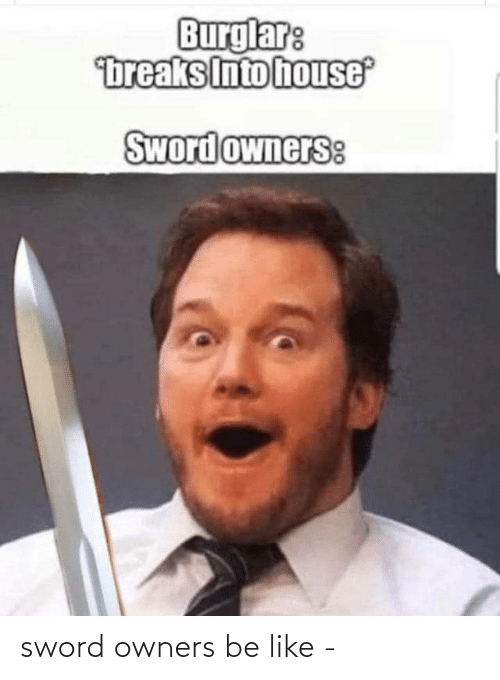 Owners: sword owners be like -