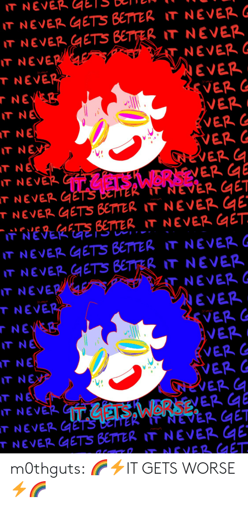 ets: T NEVER GETS BETTER IT NEVER  T NEVER METS BETTER IT NEVER  T NEVER  TNEVE  NEVERG  EVER  VER  l-  VER  T NE  T NE  T NEX  VER  ER  ER  #9  T NEV  T NEVER(qE  T NEVER GETS BETTER IT NEVER  s.15aaETS BETTER IT NEVER GET   IT NEVER ETS BETTER IT NEVER  T NEVER GETS BETTER IT NEVER  T NEVER  T NEVE  NEV  T NE  T NE  T NE  NEVER  VER  VER  EVER  VER  ER G  l-  ER 녁  T NEVE  TNEVER QETS BETTER IT NEVER E m0thguts:  🌈⚡️IT GETS WORSE⚡️🌈