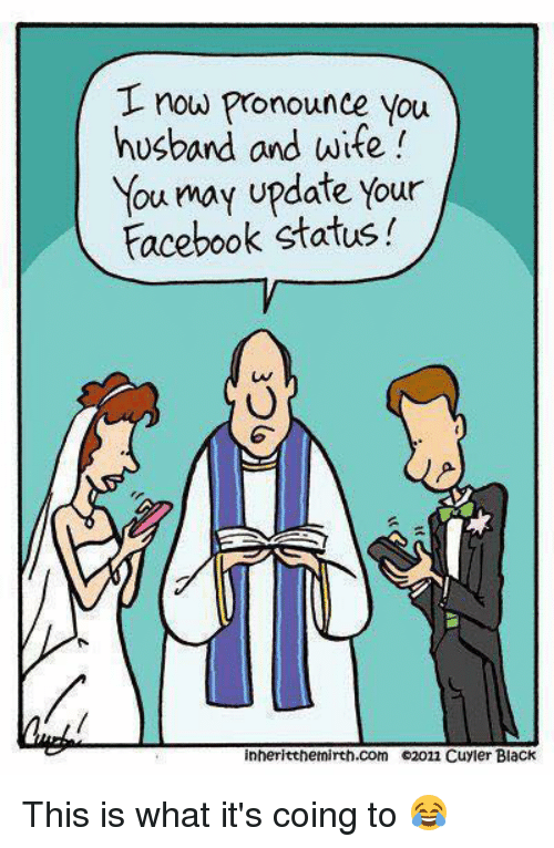 Funny Husband And Wife Meme : T now pronounce you husband and wife may update your