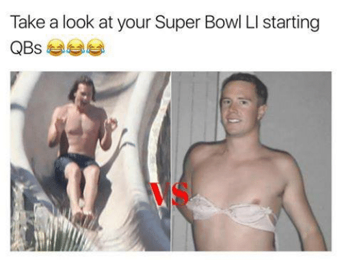 Memes, Super Bowl, and 🤖: Take a look at your Super Bowl LI starting  QBs