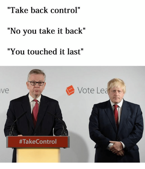 Image result for take back control