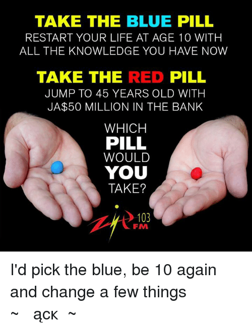 how to take the blue pill