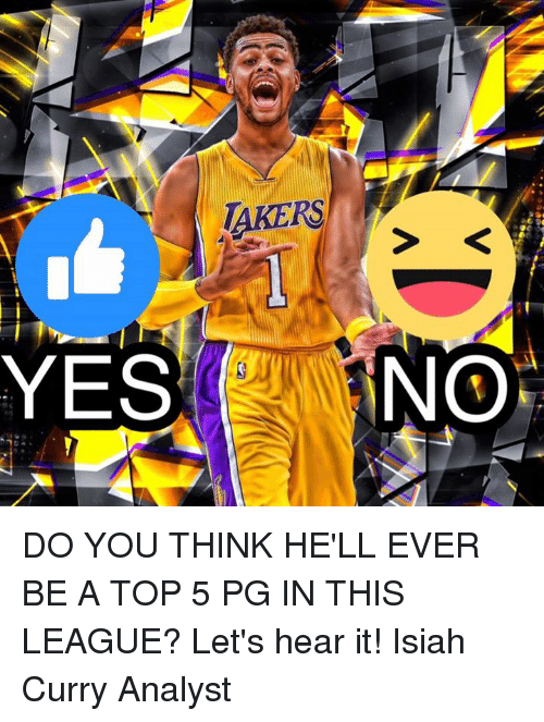 Memes, 🤖, and Curry: TAKERS  YES  NO DO YOU THINK HE'LL EVER BE A TOP 5 PG IN THIS LEAGUE?   Let's hear it!  Isiah Curry Analyst