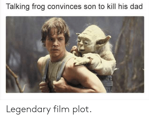 frog: Talking frog convinces son to kill his dad Legendary film plot.