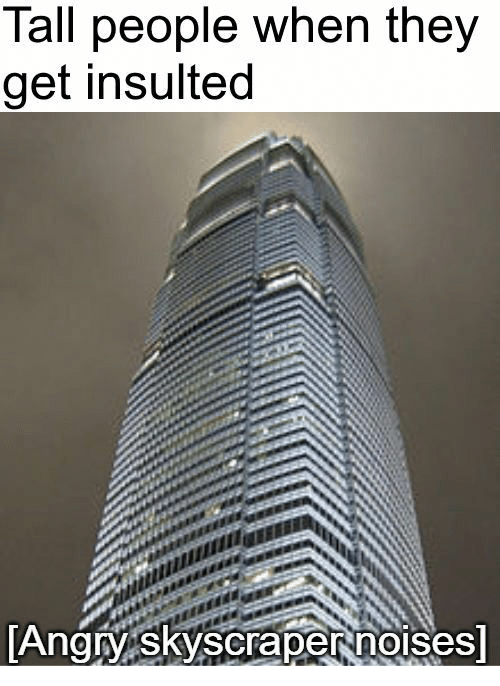 tall people: Tall people when they  get insulted  AngyskyScrapertnolses