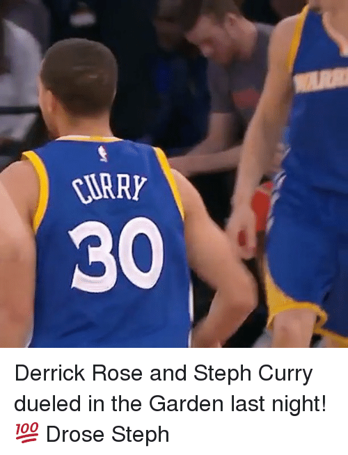 Derrick Rose, Memes, and Rose: TARRY Derrick Rose and Steph Curry dueled in the Garden last night! 💯 Drose Steph