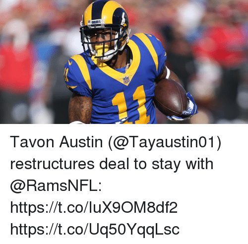 Memes, Austin, and 🤖: Tavon Austin (@Tayaustin01) restructures deal to stay with @RamsNFL: https://t.co/IuX9OM8df2 https://t.co/Uq50YqqLsc