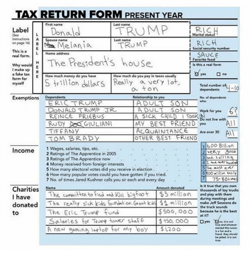 Trump Tax How Much Will I Save: Funny Last Name Memes Of 2017 On SIZZLE