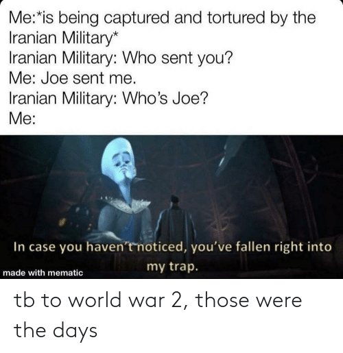 World War 2: tb to world war 2, those were the days