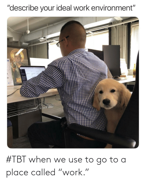 """TBT: #TBT when we use to go to a place called """"work."""""""