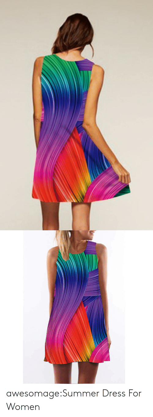 colorful: TE N awesomage:Summer Dress For Women