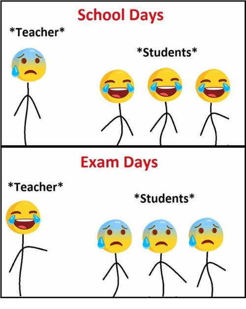 School, Teacher, and School Days: Teacher  *Teacher  School Days  Students  Exam Days  Students