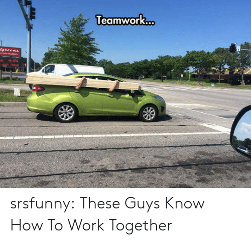 teamwork: Teamwork  .. srsfunny:  These Guys Know How To Work Together