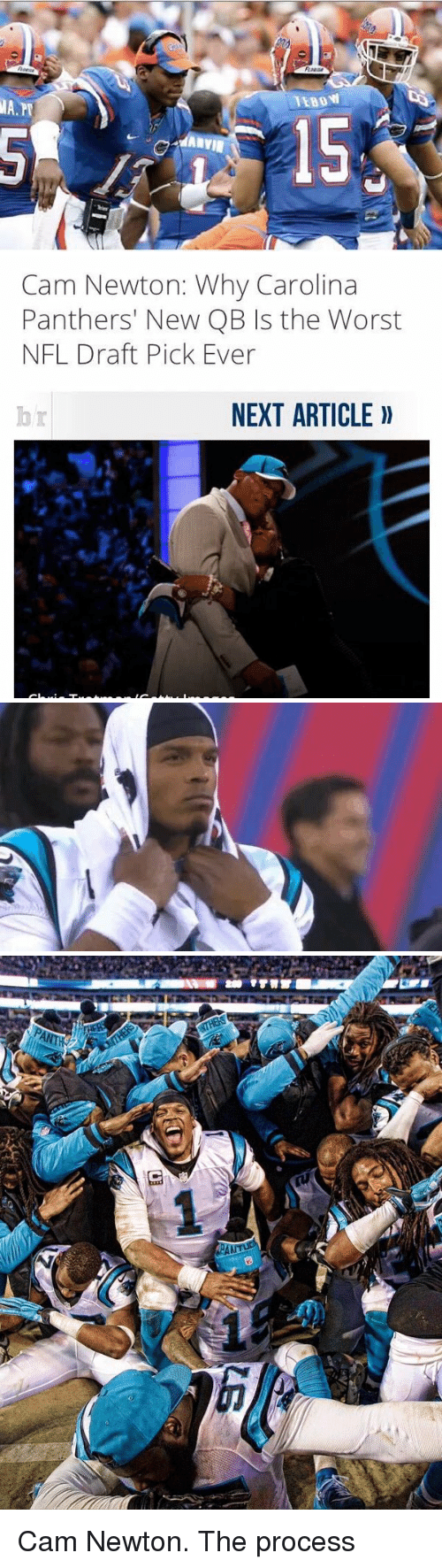 Cam Newton, Carolina Panthers, and Memes: TEBOW  ilA.?T  5  dARYIE   Cam Newton: Why Carolina  Panthers' New QB Is the Worst  NFL Draft Pick Ever  NEXT ARTICLE Cam Newton. The process