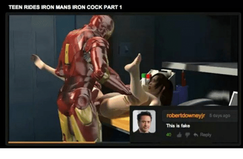 Teen rides iron mans iron cock part 2