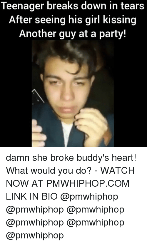 buddys: Teenager breaks down in tears  After seeing his girl kissing  Another guy at a party! damn she broke buddy's heart! What would you do? - WATCH NOW AT PMWHIPHOP.COM LINK IN BIO @pmwhiphop @pmwhiphop @pmwhiphop @pmwhiphop @pmwhiphop @pmwhiphop