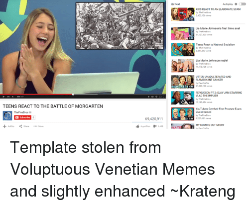 Superior Swiss: TEENS REACT TO THE BATTLE OF MORGARTEN  Subscribe  69,420,911  Up Next  Autoplay 0 C  KIDS REACT TO ANELABORATE SCAM  2405155 views  Lia Marie Johnson's first time anal  Teens React to National Socialism  UTTERUNADULTERATED AND  FLAMBOYANT CANCER  213a 108 views  FERGUESON PT2: SLAV JAM STARRING  VLAD THE IMPLIER  319 views  YouTubers Get their First Prostate Exam  6227A81 views  MY COMING OUT STORY Template stolen from Voluptuous Venetian Memes and slightly enhanced ~Krateng