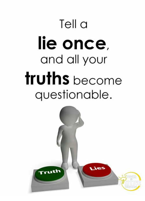 Memes, Truth, and 🤖: Tell a  ie once  and all your  truths become  questionable.  Lies  Truth