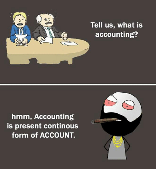 Memes, What Is, and Accounting: Tell us, what is  accounting?  CEER  hmm, Accounting  is present continous  form of ACCOUNT.