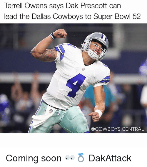 terrell owens: Terrell Owens says Dak Prescott can  lead the Dallas Cowboys to Super Bowl 52  @COWBOYS.CENTRAL Coming soon 👀💍 DakAttack